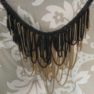 Kendra Scott Jewelry - Kendra Scott Gold Gunmetal Fringed Margot Necklace